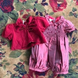 Italian Baby Romper and sweater New with tags